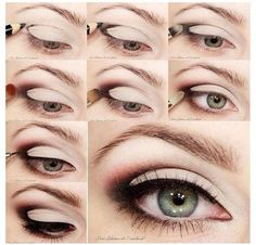 Easy smoky eye makeup green eyes beautiful eyes, make up, smoky - eye makeup, eyes, - eye makeup Beauty Make-up, Beauty Secrets, Beauty Hacks, Hair Beauty, Beauty Tips, Fashion Beauty, Beauty Trends, Ladies Fashion, Diy Fashion