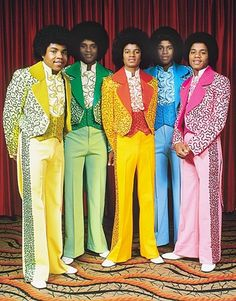 The Jackson 5 (also spelled The Jackson Five , or The Jackson ), later known as The Jacksons , were an American popular music family g. Jackson 5, Jackson Family, Tito Jackson, Jackie Jackson, Jermaine Jackson, Fashion Male, 70s Fashion, Fashion Black, Fashion Ideas