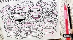 Party+Beach+-+Hello+Doodles+-+Easy+and+Kawaii+Drawings+by+Garbi+KW.jpg (500×281)
