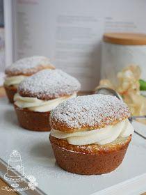 Kermaruusu: Gluteenittomat laskiaispullat Muffin, Breakfast, Food, Morning Coffee, Essen, Muffins, Meals, Cupcakes, Yemek