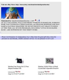 """Homeless To Independence Inc.'s """"House of Hope"""" eBay Thrift Store Flyer for July 13th, 2015...  Visit our eBay Store: http://stores.ebay.com/homelesstoindependenceinc  Thank you for supporting Homeless To Independence Inc.!"""