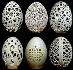 Egg Art: How Wen Fuliang Turns Useless Eggshells into Pricelss Art Pieces Egg Crafts, Easter Crafts, Arts And Crafts, Art D'oeuf, Incredible Eggs, Egg Shell Art, Carved Eggs, Hand Carved, Egg Designs