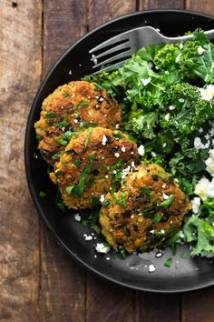 Delicious chickpea fritters that use a homemade Ras El Hanout spice blend for flavor along with fresh parsley and scallions.