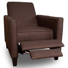Find it at the Foundary - Brown Fabric Reclining Club Chair