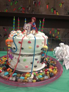 Rock climbing birthday cake- cover in chocolate rocks from bulk barn