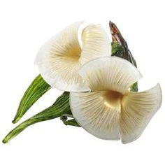 Romantic Vintage Bindweed Flowers Resin Pin Brooch by Cilea Paris