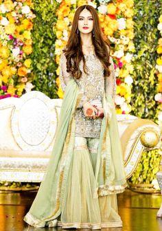 Designer Bridal Garara & Sharara Collection - Pakistani Dresses - Products Pakistani Dresses Latest collection of ladies designer dresses, Products, party wear dresses, bridal wear, formals & casuals Pakistani Fashion Party Wear, Pakistani Wedding Outfits, Pakistani Wedding Dresses, Pakistani Dress Design, Bridal Outfits, Pakistani Mehndi Dress, Mehendi, Bridal Mehndi Dresses, Desi Wedding Dresses
