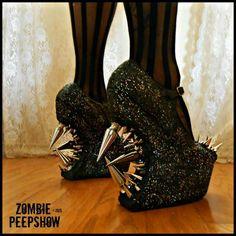 Zombie Peepshow glam shoes!