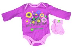 John Deere Newborn Fuchsia Onesie and Socks Set John Deere Baby, Baby Love, Onesies, Girl Outfits, Socks, Babyshower, Kids, Clothes, Future