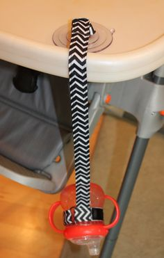 Chevron Suction Sippy Strap - by ChunksBabyJunk, $10.00 #chevron #sippystrap