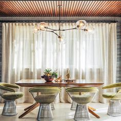In the 1960s, Warren Platner transformed steel wire into a sculptural furniture collection, thus creating a design icon of the modern era. http://www.yliving.com/knoll-platner-arm-chair.html