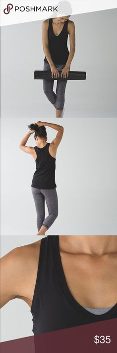 Lululemon Circadian Tank uper-soft tank to slip easily over your favourite bra and into your life. The lightweight, naturally breathable fabric is designed to move with you all day, from your first morning stretch to late-night movies in bed.  Key features made from a blend of Pima Cotton for the ultimate in softness and stretch added LYCRA® fibre moves with you and stays in great shape lululemon athletica Tops Tank Tops