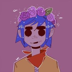 (Art by DrawDroid on Tumblr) Homecoming's today for my school. A day of utter madness over who's going to be homecoming king and queen, football games galore, and coming back to the kids in my grade reciting Harambe poems. Should I be scared? - - #gorillaz #2d #2dgorillaz #band #bands #music #talent #stuartpot #murdoc #murdocniccals #feelgoodinc #clinteastwood #demondays #plasticbeach #art #drawing #fanart