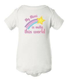 Look what I found on #zulily! White 'My Mimi is Outta This World' Bodysuit - Infant #zulilyfinds