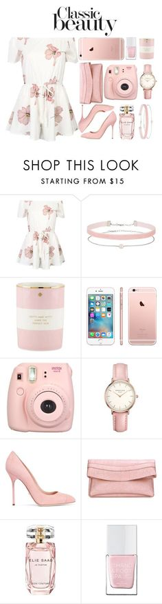 """""""look of love"""" by rocklikeachampion ❤ liked on Polyvore featuring WithChic, Miss Selfridge, Kate Spade, Fujifilm, Topshop, Sergio Rossi, Elie Saab and The Hand & Foot Spa"""