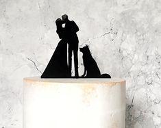 Siberian Husky Dog Wedding Cake Topper Animal Pet Cake   Etsy Silhouette Wedding Cake, Bride And Groom Silhouette, Dog Cake Topper Wedding, Amazing Wedding Cakes, Dog Wedding, Wedding Ideas, Bride Groom, Basket, Husky Dog