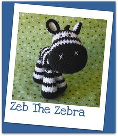 Zeb the Zebra amigurumi crochet pdf pattern by madisonscraftnook on Etsy -he's adorable! Crochet Zebra, Cute Crochet, Crochet Patterns Amigurumi, Crochet Dolls, Knitting Projects, Crochet Projects, Invisible Stitch, Quilting, Crochet Basics