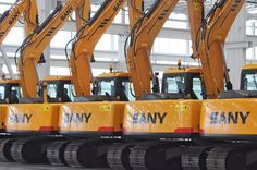 SANY excavators waiting delivery to customers at Peachtree City, Georgia.