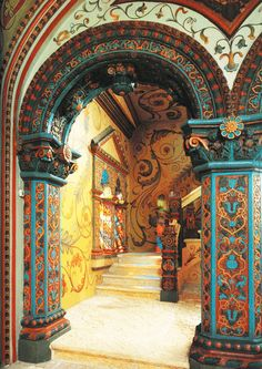 From history.Russian interior. Terem Palace.