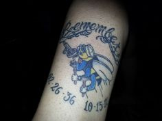 Remember Seabees (02-26-36  10-15-11) Tattoo on my left lower leg in memory of my Daddy.