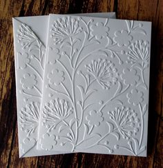 Embossed Dandelion Cards, Set of 5, White Embossed Note Cards, Blank Note Cards, Greeting Cards, Dandelion Stationery Set, Boxed Card Set by WriteCards on Etsy https://www.etsy.com/listing/229223215/embossed-dandelion-cards-set-of-5-white