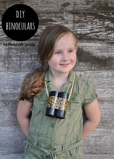 DIY BInoculars- Jungle Safari Party