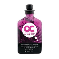 Oc Gossip 12 Oz Dark Tan Bronzing Silicone Emulsion by OC. $19.53. ACAI OIL. FIVE TANNING MAXIMIZERS. SILICON EMULSION. SKIN FIRMING. UNIQUE BROZING SYSTEM OF NATURAL INGREDIENTS. Buy or Review Oc Gossip 12 Oz Dark Tan Bronzing Silicone Emulsion at guaranteed lowest prices! Submit Best offer. Secure shopping, Super fast Free shipping.. Save 70% Off!