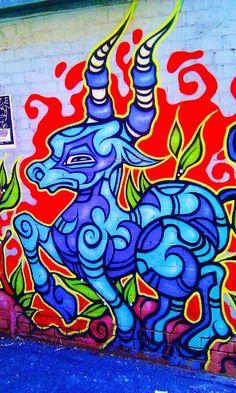 Street Art and Graffiti in Fitzroy, Melbourne