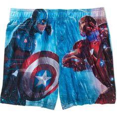 Captain America Civil War Men's Boxer, Size: Medium, Multicolor