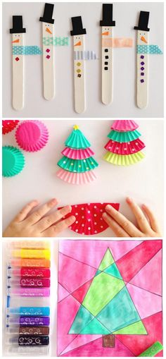 Last Minute Christmas Craft Ideas for Kids! (Cupcake liner trees, popsicle stick snowmen, and more!)