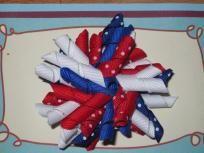 Med.  4th of July Firecracker Korker Hair Bow