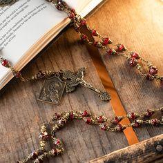 Vintage Rosary Beads | The Roman Catholic Store Catholic Store, Catholic Gifts, Communion Gifts, Rosary Beads, Sacred Heart, Red Glass, Crucifix, Glass Beads, Roman Catholic