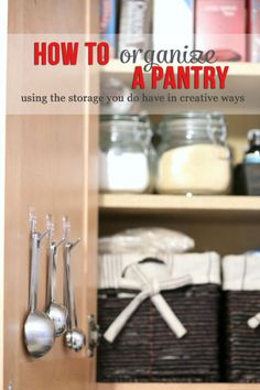 Perfect Pantry Organization - Whether you have a large walk-in pantry, or no real pantry at all, you can get extra storage space by using the storage you do have in creative ways Food Storage, Storage Ideas, Extra Storage, Storage Solutions, Towel Storage, Easy Storage, Pantry Organization, Pantry Ideas, Organization Station