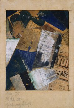 * Kurt Schwitters, Merz Drawing 75 (Merzzeichnung 75), 1920, Paper and fabric collage, tempera, ink and graphite on paper,