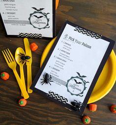 Halloween Dinner Menu Printable