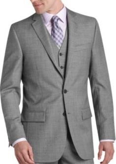 Egara Black and White Sharkskin Slim Fit Suit Separates Coat  REG. $374.99 View Big & Tall Price Buy 1, Get 1 for $100 on Suits and Sport Coats  pants to match: REG. $174.99