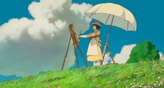 Monet, Woman with a Parasol, 1886 The Wind Rises ( 風立ちぬ ) 2013 Director: Hayao Miyazaki Cinematographer: Atsushi Okui Studio Ghibli Art, Studio Ghibli Movies, Hayao Miyazaki, Le Vent Se Leve, Grave Of The Fireflies, Wind Rises, Image Manga, Howls Moving Castle, My Neighbor Totoro