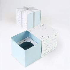 Blue Confetti - Cupcake Box