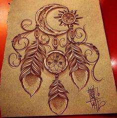 > Moon tattoo- mystery or magic? Tattoo Sketches, Tattoo Drawings, Body Art Tattoos, New Tattoos, Sleeve Tattoos, Tatoos, Atrapasueños Tattoo, Tattoo Mond, Dream Catcher Art