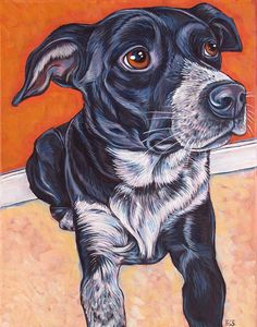 11 x 14 Custom Pet Portrait Painting in by bethanysalisbury