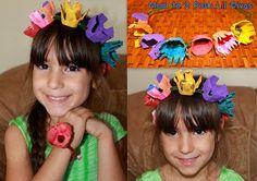 Mom to 2 Posh Lil Divas: Kid Craft: Egg Carton Floral Fairy Hair Wreath