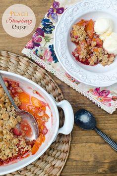 Peach Strawberry Crisp