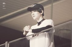 Baekhyun - 150616 SK Wywerns vs Hanwha Eagles opening pitch Credit: Divine B. (SK 와이번스 vs 한화 이글스 시구식)