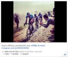 Check out the Cycling Weekly's compilation of the Paris-Roubaix as seen through social media