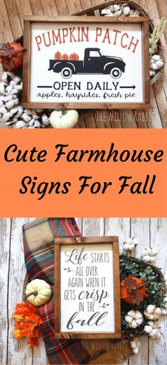 Add a cute touch of Fall to your home with these Farmhouse Style signs. #ad