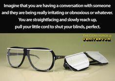 Conversation sunglasses are epic.  #funnypics #humor