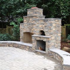 Outdoor Fireplace And Pizza Oven Combination.I Will Have Something Like  This In My Backyard Someday SOON!