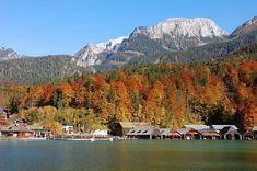 Lago Königssee no outono. Foto: http://www.fotocommunity.de ( Jürgen S.)