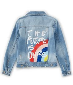 GB Girls Big Girls The Future is Ours Denim Jacket 2019 GB Girls Big Girls The Future is Ours Denim Jacket The post GB Girls Big Girls The Future is Ours Denim Jacket 2019 appeared first on Denim Diy. Denim Jacket Diy, Painted Denim Jacket, Painted Jeans, Painted Clothes, Jacket Jeans, Denim Jacket Tumblr, Denim Jacket With Pins, Denim Jacket With Patches, Denim Jacket Outfit Summer