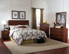 Modern Brown Set with Steel Hardware | Kennedy Bedroom Set | American Freight